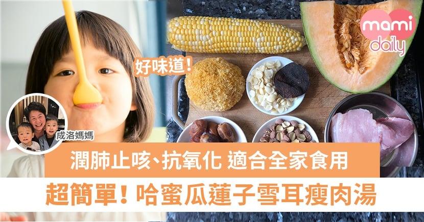 【成洛媽媽家常湯】哈蜜瓜蓮子雪耳瘦肉湯