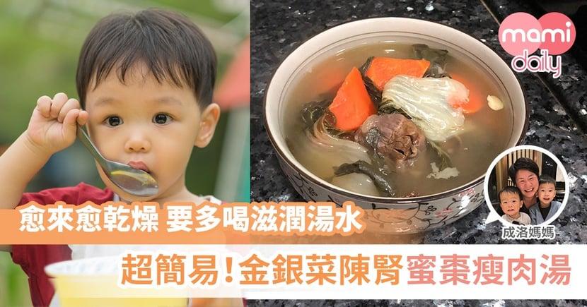 【成洛媽媽家常湯】金銀菜陳腎蜜棗瘦肉湯