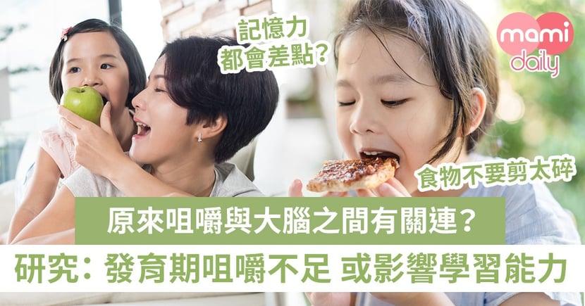 給孩子一個咀嚼的機會吧!咀嚼次數不足 或會降低學習能力