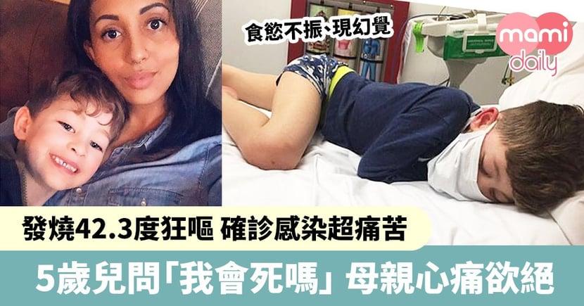 5歲兒確診感染 發燒42.3度狂嘔 痛苦不堪問媽媽:「我會死嗎」