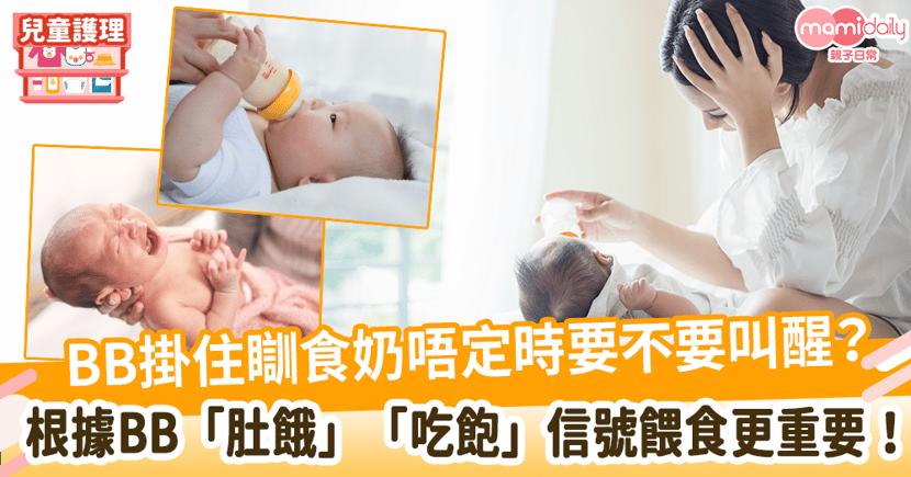 【初生bb唔食奶】BB掛住瞓食奶唔定時會不會影響發育?根據BB「肚餓」、「吃飽」信號餵食更重要!