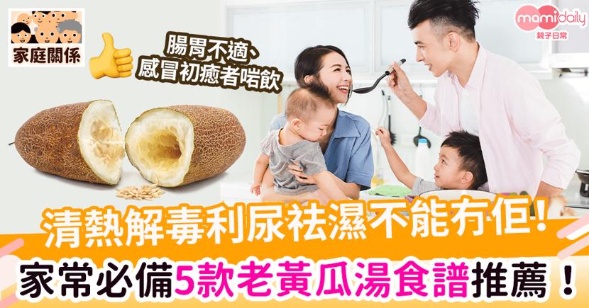 【老黃瓜湯】清熱解毒利尿祛濕不能沒有它! 家常必備5款老黃瓜湯食譜推薦!一起喝出健康脾胃