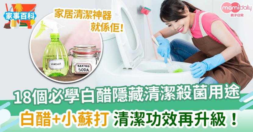 【白醋】家居清潔萬用神器 18個必學白醋隱藏清潔殺菌用途!加上小蘇打清潔功效再升級